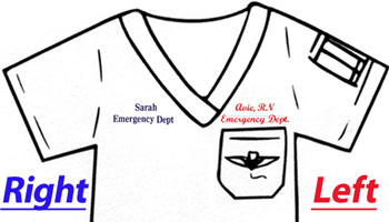 Embroidery Options available Left and Right Side (above Breast Pocket)
