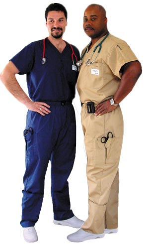 """IN-STOCK"" Aviator Classic Scrubs With Patented Pockets and Adjustable Quick Buckle Elasticized  Belted Waistbands!"